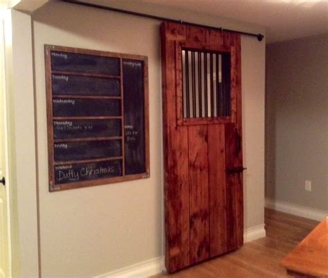Barn Doors And More Better Pic Of My Sliding Barn Door More Accurately A Door From An Stall Added Mirror