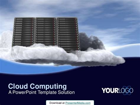 cloud template for powerpoint cloud computing powerpoint template