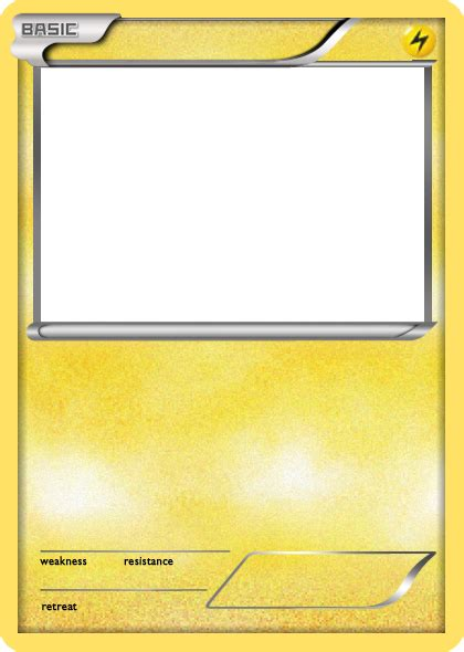 bw lightning basic pokemon card blank by the ketchi on
