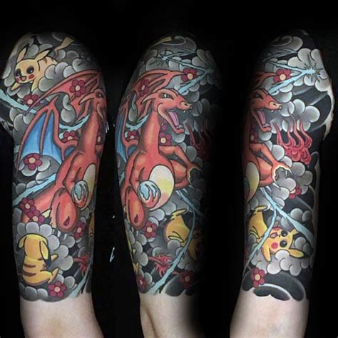 pokemon tattoo sleeve 80 tattoos for catch cool design ideas