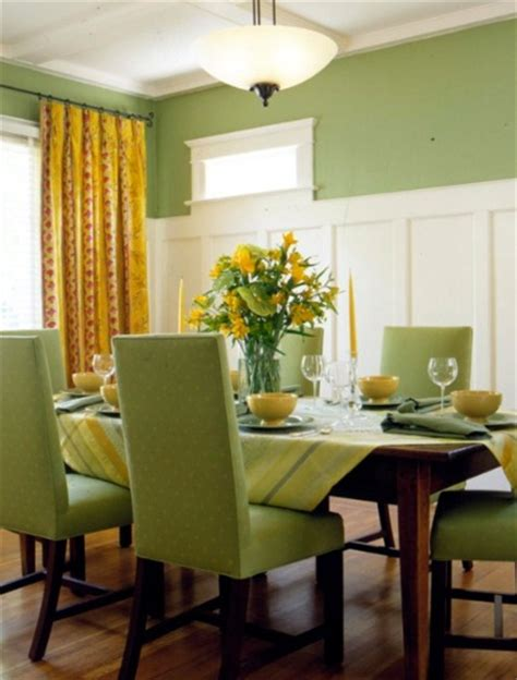 Dining Room Color Schemes by Green And Yellow Dining Room Color Scheme Home Interiors