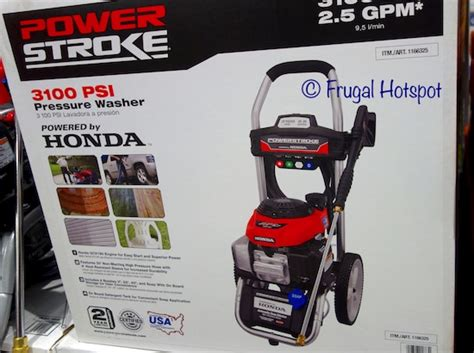 costco sale powerstroke honda powered gas pressure washer  frugal hotspot