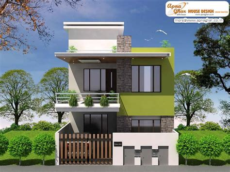 simple modern duplex house design in 920 square click