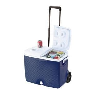 home depot coolers rubbermaid 45 qt blue wheeled cooler fg2a9102modbl the