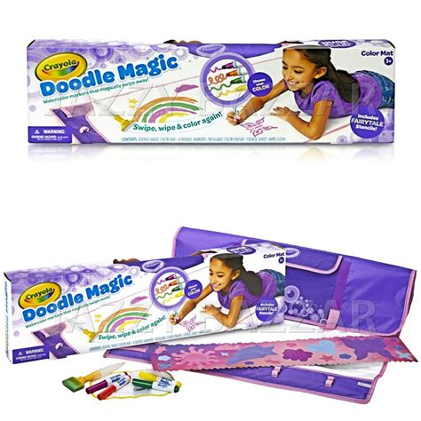 Crayola Doodle Magic Color Mat by Crayola Doodle Magic Color Mat Pack 4 Markers