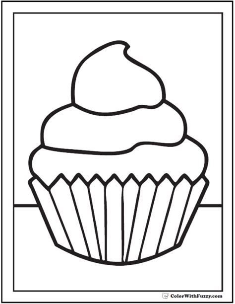 preschool coloring pages cupcakes 40 cupcake coloring pages customize pdf printables