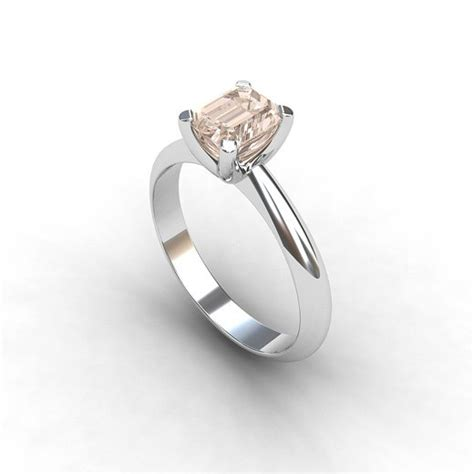 white gold and morganite engagement ring the finger