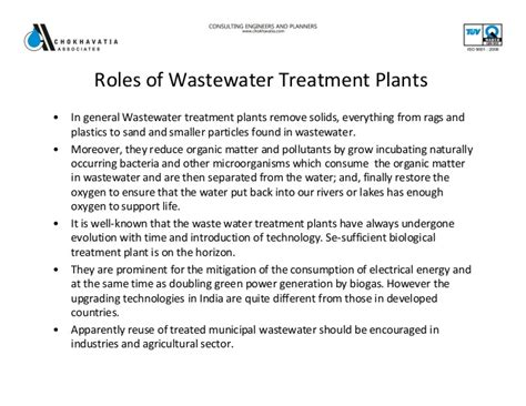 brief introduction of water brief introduction about waste water treatment plants