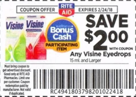 For Eyes Printable Coupons | rite aid visine eye drops only 2 29 starting 2 18 ftm