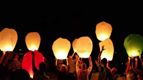 How To Make A Sky Lantern Out Of Paper - wedding videography sky lantern release clip 1 of 2