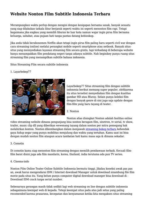 film indonesia website website nonton film subtitle indonesia terbaru by