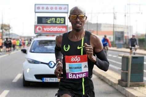 Pb Fairah mo farah wins lisbon half marathon with pb and record