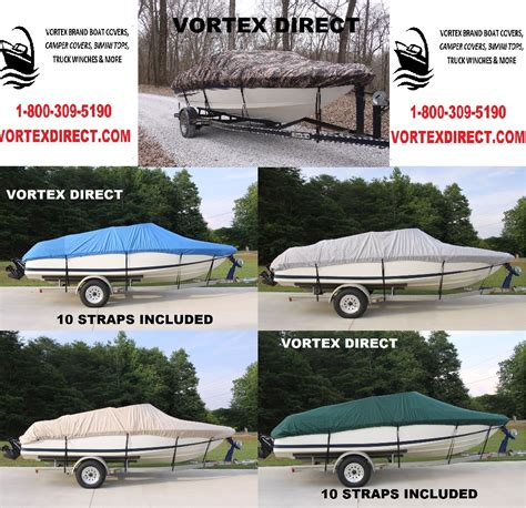 16 foot fishing boat covers 16 foot vortex fishing ski runabout vhull boat cover