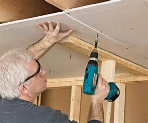 how to put up a ceiling how to install drywall by yourself
