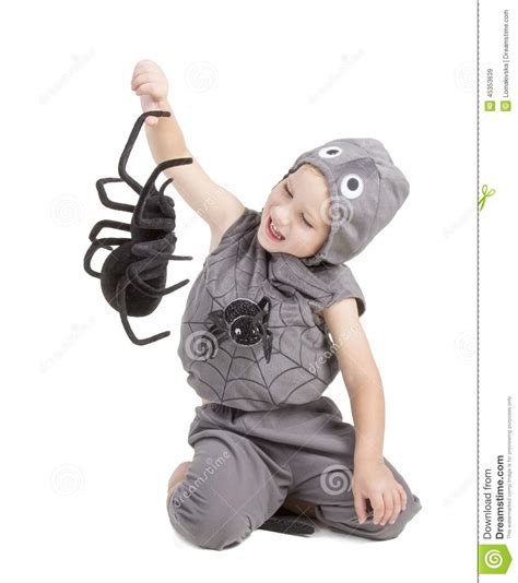 dressed as spider boy dressed as a spider stock photo image 45353639