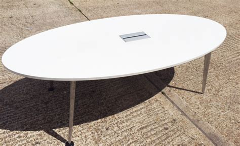 White Oval Meeting Table White Oval Meeting Table Docklands Office Furniture Londondocklands Office Furniture