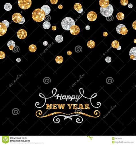 happy  year greeting card  shining dots stock vector image