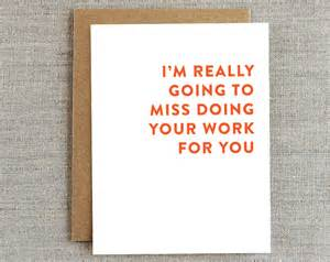 funny coworker card card for co worker goodbye card work