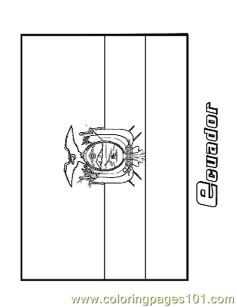 Coloring Pages Ecuador Education Gt Flags Free Flag Of Ecuador Coloring Page