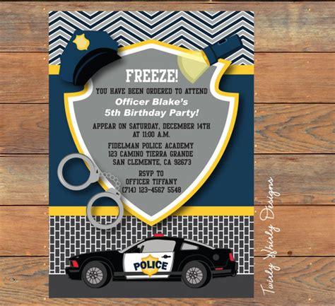 printable birthday party invitations etsy police birthday invitation printable by twirlydesigns on etsy