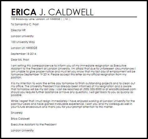 resignation letter resignation letters