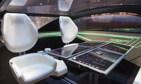 futuristic cars interior panasonic s futuristic concept for driverless cars daily