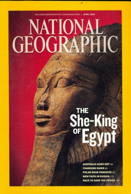 2009 National Geographic Magazine The She King Of Egypt
