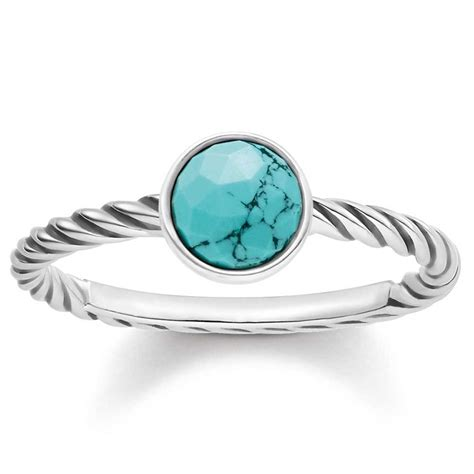 sabo silver ethnic turquoise ring tr2130 878