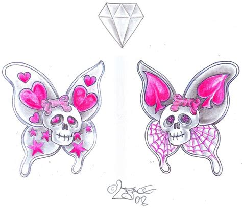 skull and butterfly tattoo designs butterfly skull design by 2face on deviantart