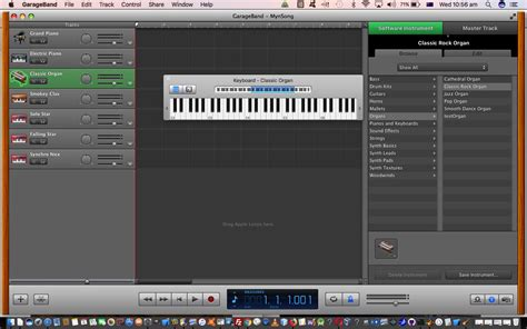 tutorial piano garageband garageband keyboard collection on mac primer tutorial