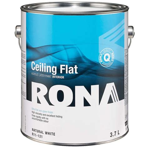 quot flat finish quot interior paint rona