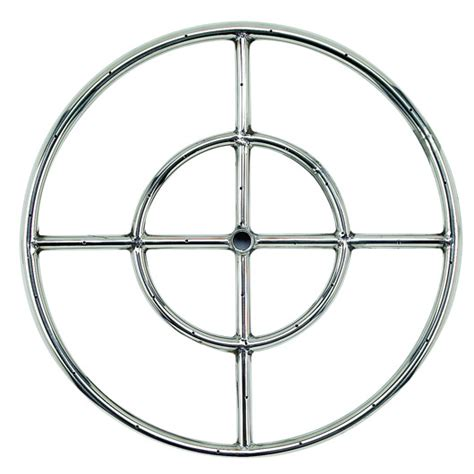 18 quot stainless steel pit ring burner