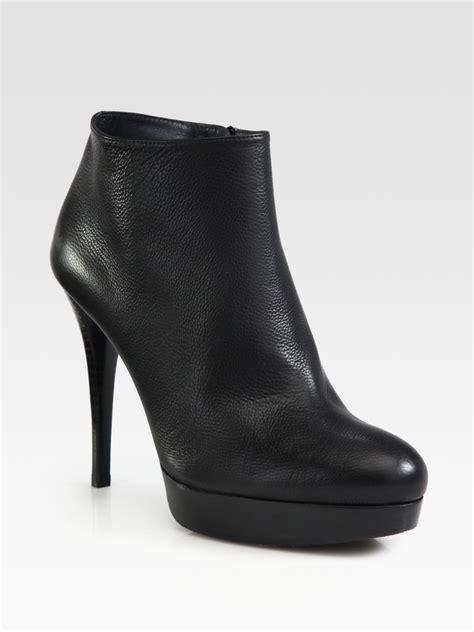 stuart weitzman ankle boots stuart weitzman leather platform ankle boots in black lyst