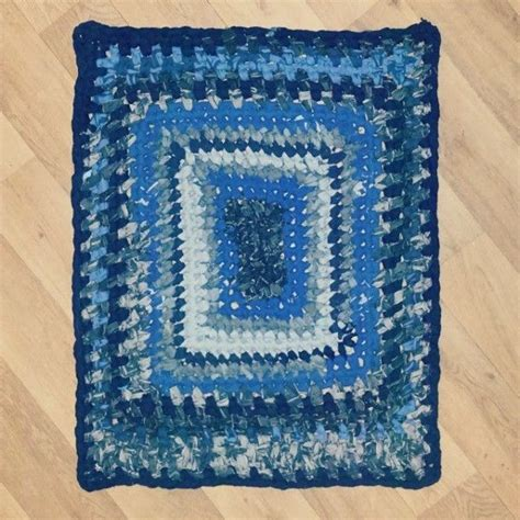 plastic bag rugs braided denim upcycled into a crochet rag rug from little v and me crochetholic hilariafina