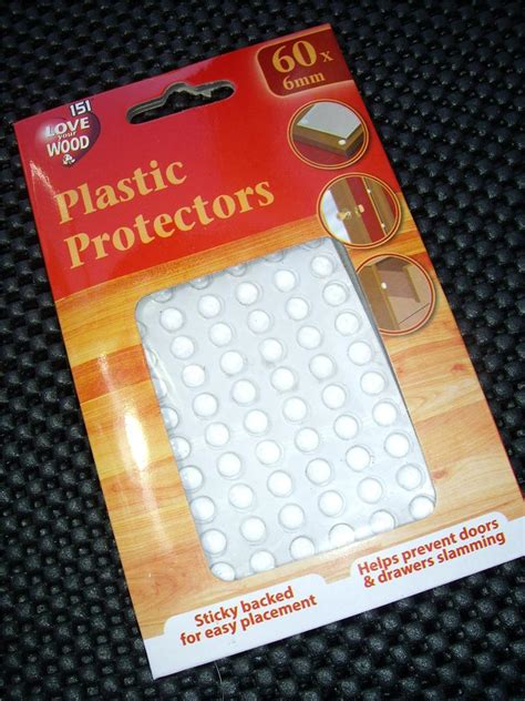 Kitchen Cabinet Door Pads Plastic Protectors Dots Pads Self Adhesive Cabinet Buffers Drawer Cupboard Door