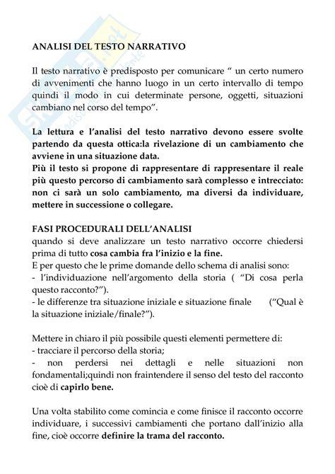 testo narrativo caratteristiche letteratura italiana analisi testo narrativo