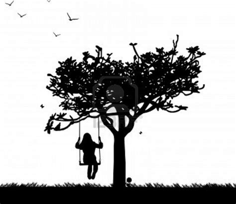 swing silhouette swing tree tattoos pinterest trees and swings