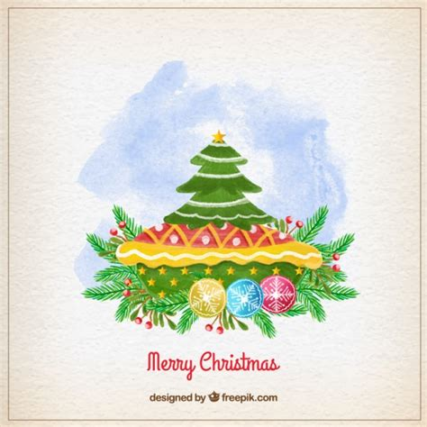 painted hand christmas trees painted tree vector free