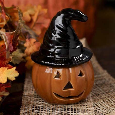 Ceramic Halloween Pumpkin Tealight Holder   Table Decor
