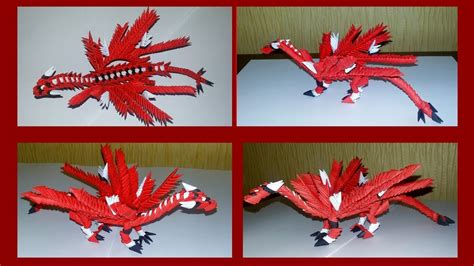 origami 3d dragon tutorial español 3d origami mini dragon very simple tutorial youtube