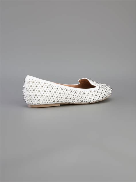 white studded loafers jeffrey cbell martini studded loafer in white lyst