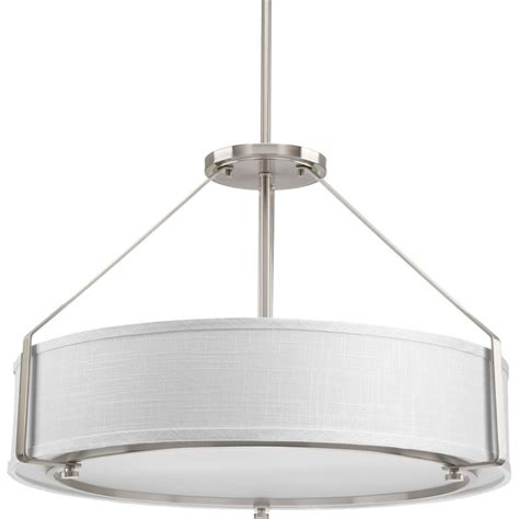 progress lighting calven collection 4 light brushed nickel bath light p3236 09wb the home depot progress lighting ratio collection 4 light brushed nickel pendant p5015 09 the home depot