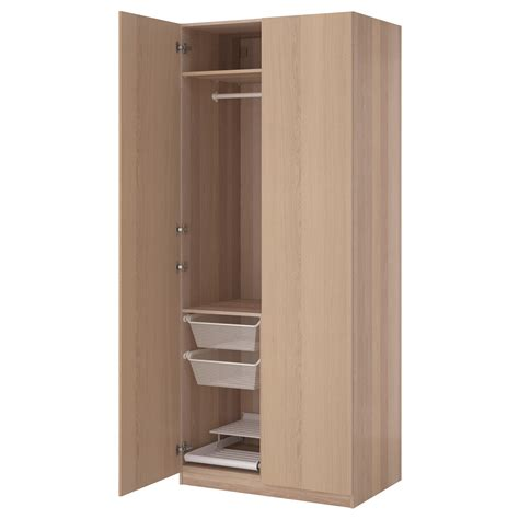 pax wardrobe white stained oak effect nexus white stained - Schrank 100 Breit