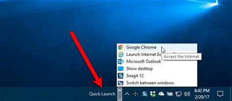 windows top bar missing how to bring back the quick launch bar in windows 7 8 or 10