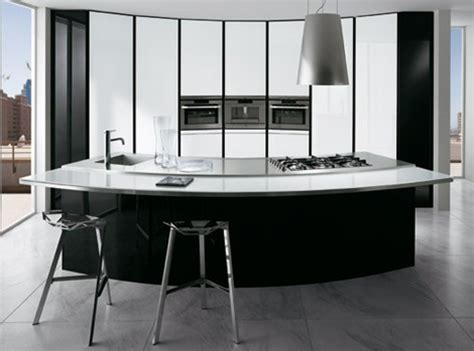 Curved Kitchen Island Designs Curved Kitchen Designs Curved Kitchen Islands Curved Cabinets By Ernestomeda