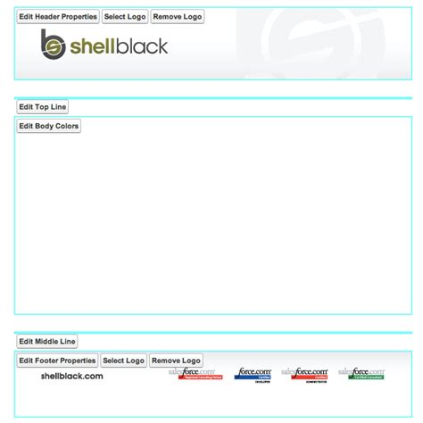 creating header and footer in html use a logo to make branded email letterheads in salesforce