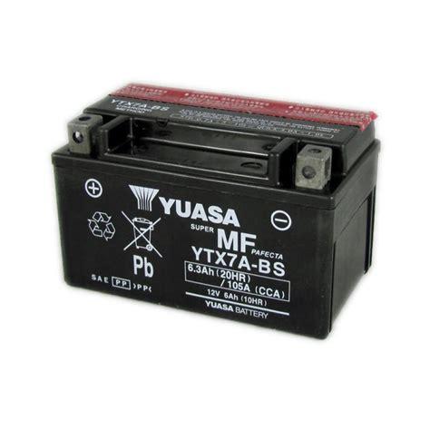 Motorradbatterie 12v 6ah yuasa motorcycle battery ytx7a bs 12v 6a from county