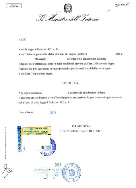 ministero interno cittadinanza italiana immigrati news service wednesday january 25 2012