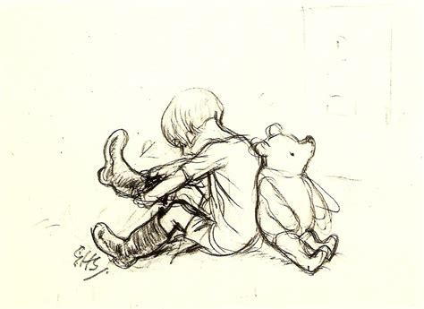E H Shepard Sketches by Hiving Out Vintage Picture Book Illustrations