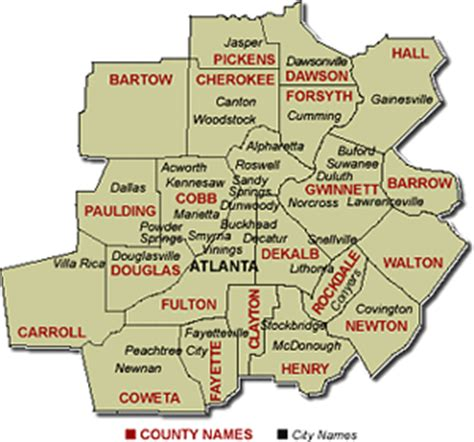 atlanta area map realty holdings quot we put you quot